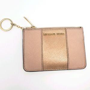 Michael kors rose gold jet set small wallet
